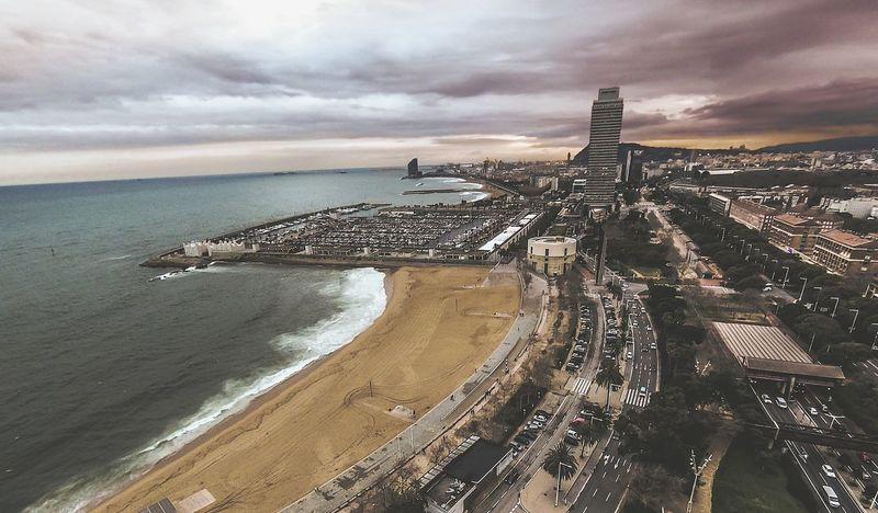 barceloneta vista de pajaro Barcelona Drone  Bcn Arquitecture Arquitectura Arquitetura ArquiteturaeUrbanismo Urban Urbanphotography Urban Landscape City Life Cities Atardecer Amanecer Mobility In Mega Cities Beach Sea Sand Horizon Over Water Sunset Cloud - Sky Outdoors Travel Destinations Sky City Architecture Landscape Urban Skyline Cityscape Nature Colour Your Horizn