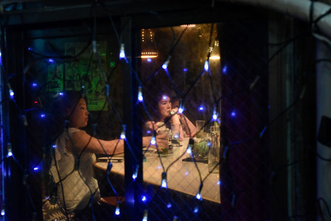 Golden Gai Night Lights Shinjuku Bar Drapes  Drink Drinking Entertainment District Night Nightlife Real People Street Photography Tired Women The Street Photographer - 2018 EyeEm Awards