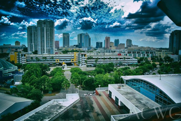 Tampa Downtown Skyline Awesome View Carnival Cruise Carnival Paradise Blue Sky