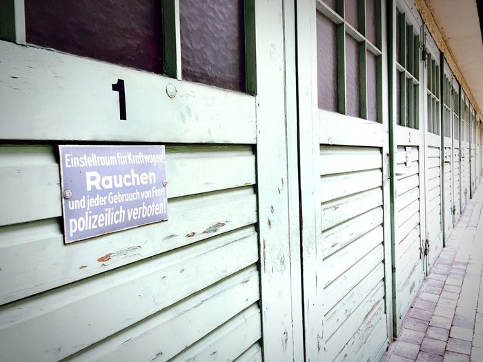 München Hinterhof Neuhausen streetphotographie Tore Garagen Text Communication No People Day Outdoors Built Structure Building Exterior Architecture Close-up