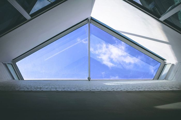 Upshots of interior design Window Indoors  Day Low Angle View Sky Cloud - Sky No People Architecture Built Structure Nature