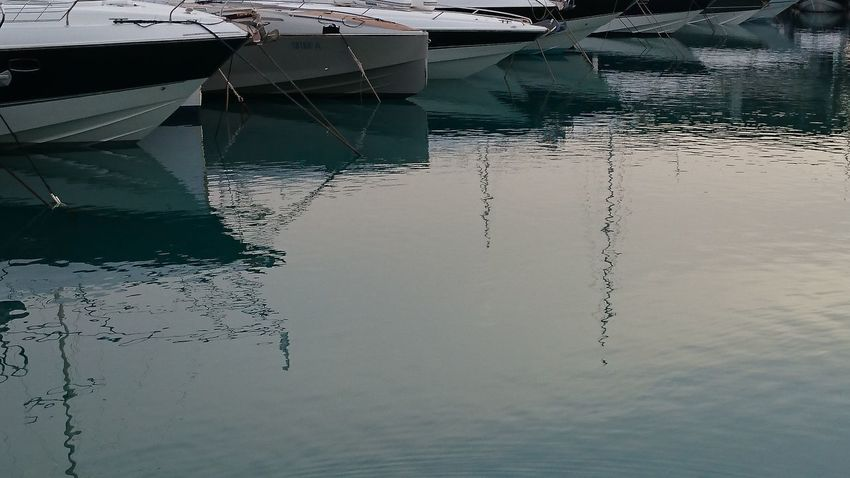 Boats Moored Nautical Vessel No People Outdoors Reflection Waterfront