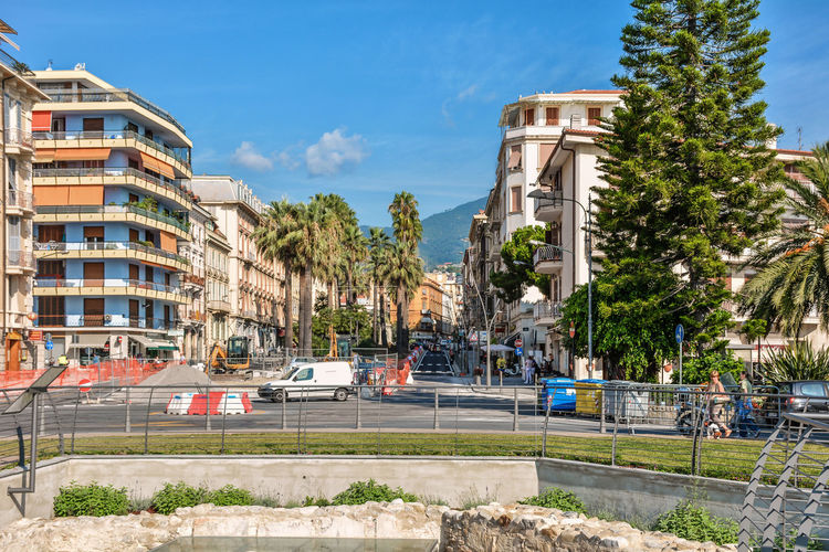 Architecture San Remo Sky And Clouds Tree Architecture Building Building Exterior Built Structure Car City Cloud - Sky Day Italy Land Vehicle Outdoors Palm Tree Road Sky Street Street Photography Streetphotography Sunlight Transportation Tree