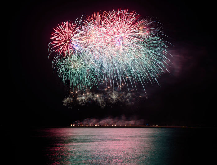 Beautiful fireworks Background Beautiful Beauty Blue Celebration Color Colorful Explode Festival Festive Fireworks Fun Growth Happy Light And Shadow Night Party Smoke White Yea Yellow