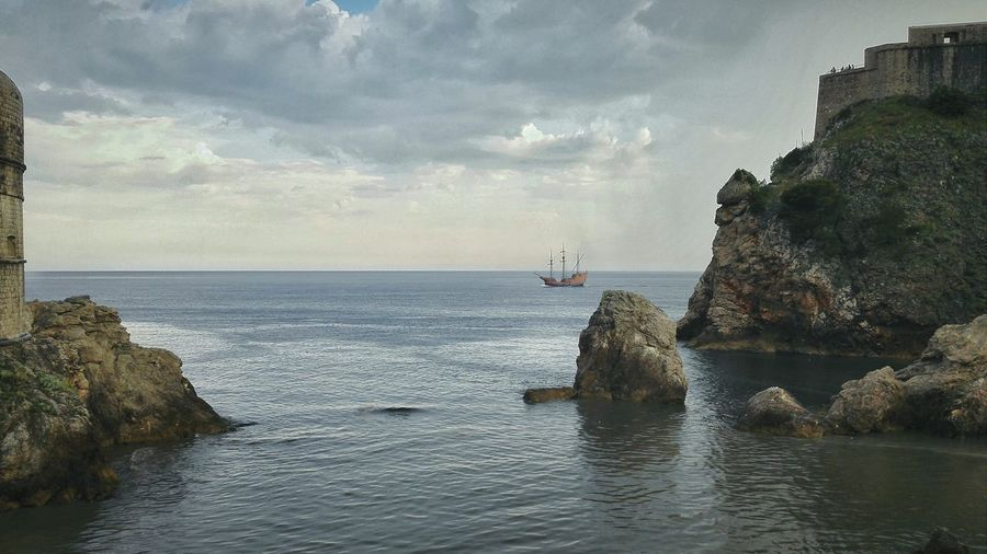 After The Rain it was one of the sunniest and hottest day yesterday, then out of nowhere, the Sky opened up and it began pouring. Lasted less than an hour but brought on some Great Atmosphere Cliffs Adriatic Sea Pirate Ship Old Town Quiet Landscape