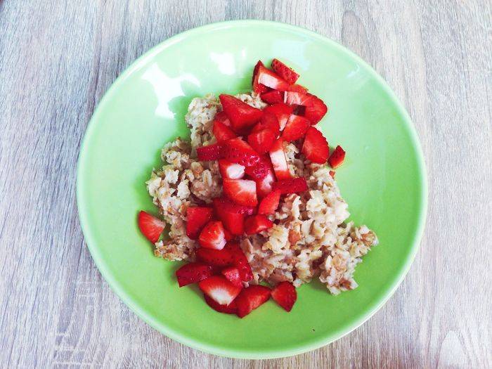 Buckwheat With Strawberries On Plate