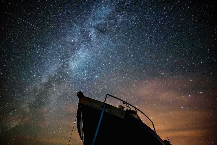 Ships in the night Overnight Success Star - Space Low Angle View Astronomy Majestic Milky Way Galaxy Constellation Darkart Landscape_photography Skyporn Northumberland Lindisfarne Nightphotography Nautical Vessel Boat Travel Destinations EyeEm Masterclass Planet - Space Tranquility Clear Sky Scenics Atmospheric Mood My Year My View Miles Away
