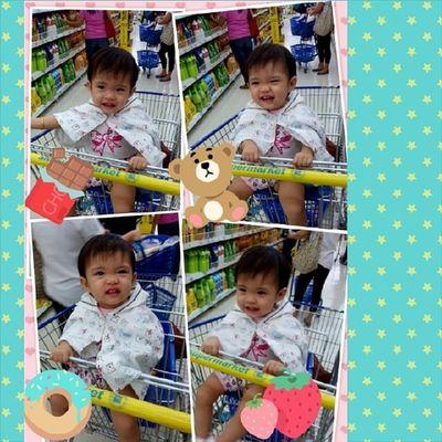 Cutecutebabyiya enjoying her ride :D Smsupermarket
