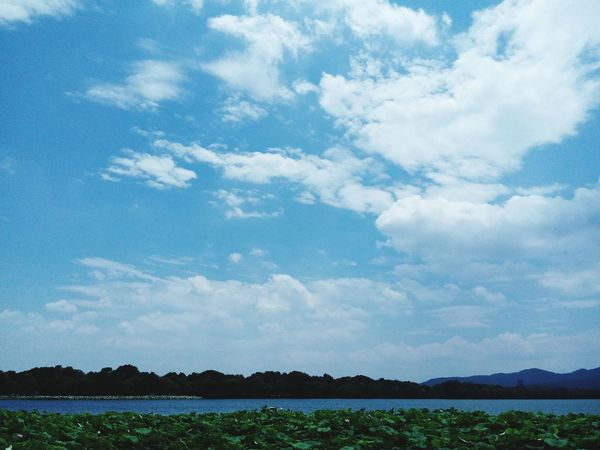 Sky And Clouds Sky_collection Lake View China The West Lake Nature