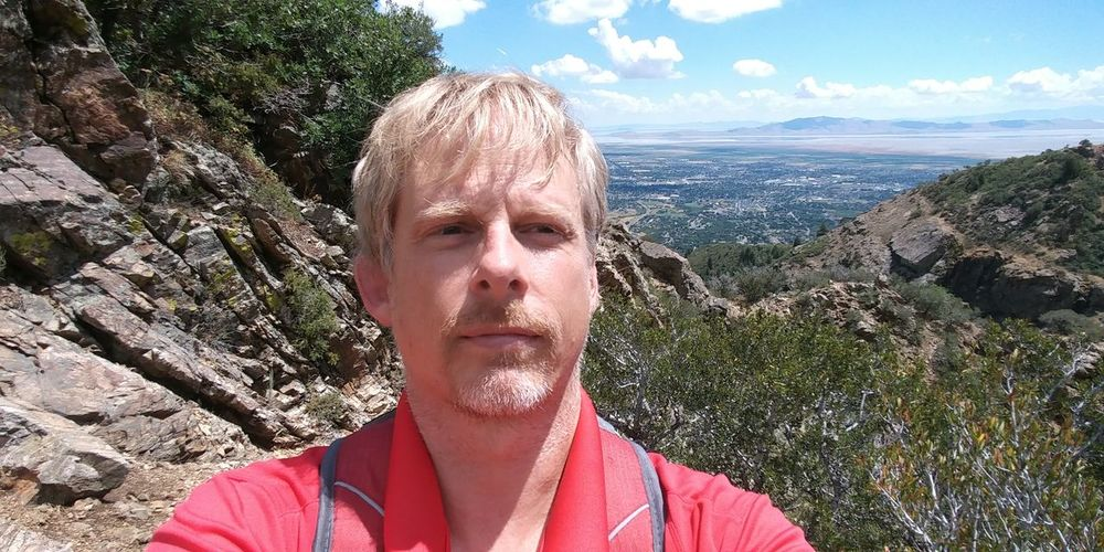 One Man Only Headshot One Person Sunlight Outdoors Sky Nature Close-up Cloud - Sky Landscape Beauty In Nature Mountain Range Green Color Summer Hikingadventures Wasatch Mountains WasatchFront Tranquility City Of Layton Utah And Beyond View From The Mountain