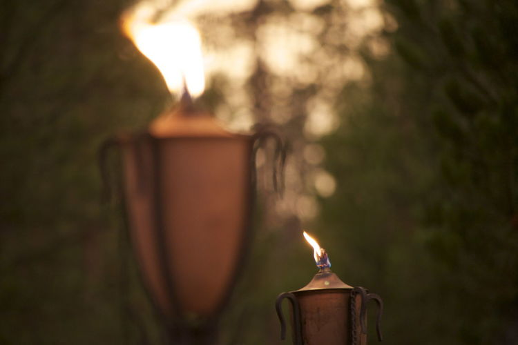 Candles Flame Soft Torchlight Burning Candle Close-up Evening Evening Flame Evening Sky Fire Flame Glowing Heat - Temperature Illuminated Muted Flame No People On Fire Outside Relaxation Soft Focus Strong Flames Summer Nights Tiki Tiki Torch