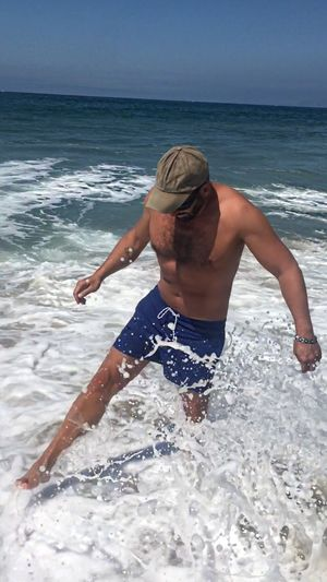 Outdoors Sea Water Beach Real People Leisure Activity Land Horizon Over Water Horizon Lifestyles One Person Men Shirtless Motion Wave Nature Scenics - Nature Day Males  Robertoblasi