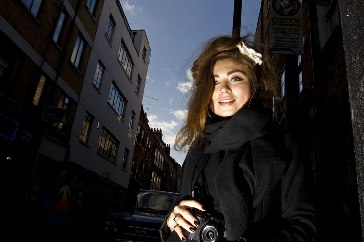EyeEmInLondon London Shoreditch Building Exterior City One Person One Young Woman Only Photographer Portrait Smiling EyeEm In London