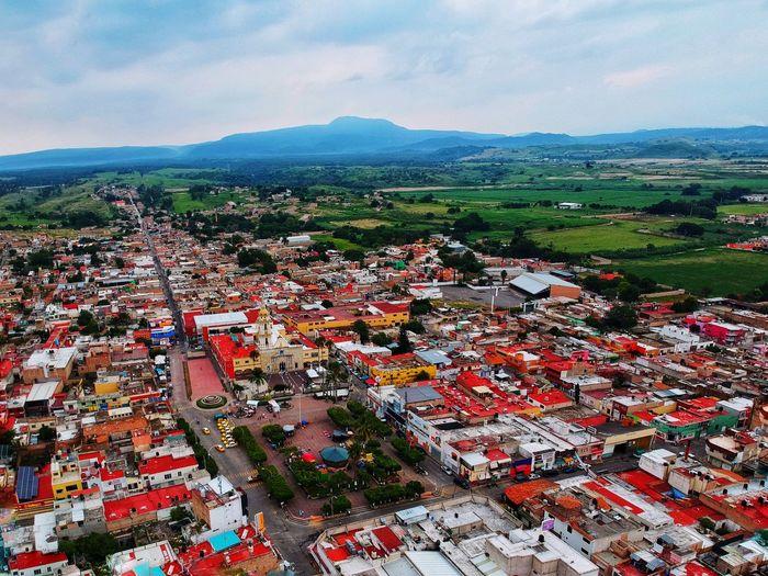 Edificios Y Fachadas Edificios Casas Paisaje Jalisco Architecture Cloud - Sky Sky Mountain High Angle View Built Structure City Day