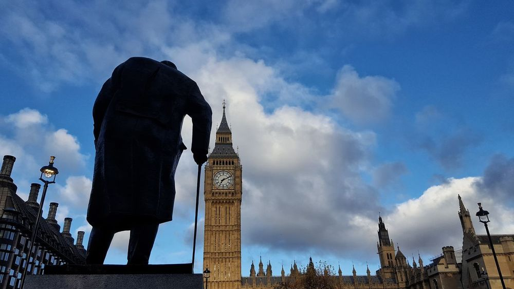 """""""Success is not final, failure is not fatal; it is the courage to continue that counts """" Winston Churchill Quotes History Prime Minister Great Man Statue Sculpture City Historical Monuments Historic Architecture Houses Of Parliament Big Ben Travel Destinations Outdoors Cityscape England🇬🇧 United Kingdom Low Angle View Clock The Street Photographer - 2017 EyeEm Awards The Photojournalist - 2017 EyeEm Awards Place Of Heart EyeEm LOST IN London Postcode Postcards"""