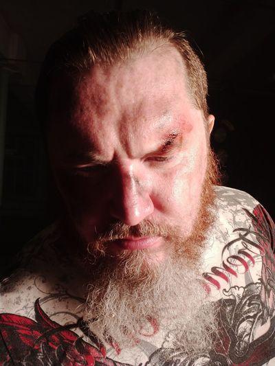 Close-up portrait of a man