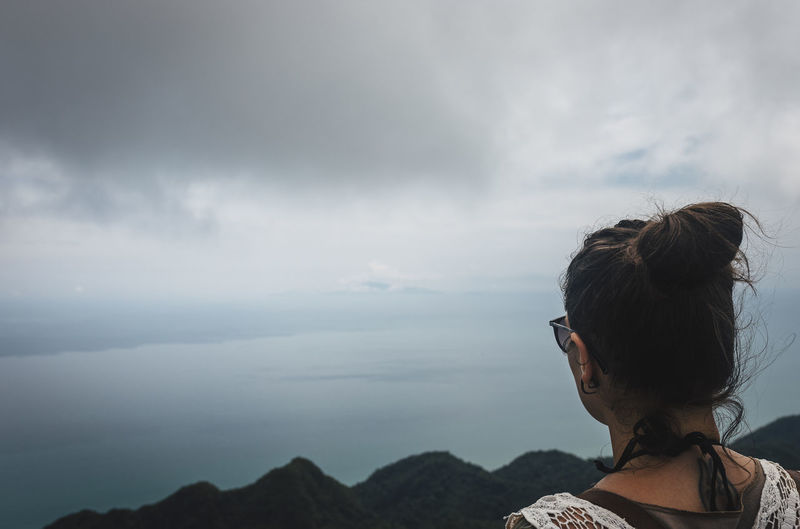 Adventure Cloud - Sky Landscape Ocean One Person Outdoors Real People Rear View Scenics Sea Sky Thailand Tranquility Travel Travel Photography Women