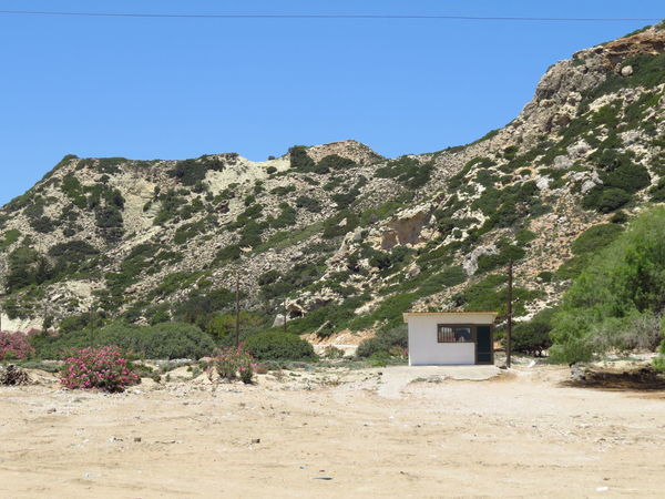 Beach Booth Clear Sky Desert Deserted Greece Hill Hut Insignificant Landscape Landscape_photography Mediterranean  Mountain Mountain Range Mountain View Non-urban Scene Plant Remote Rhodes Rock Formation Scenics Shack Small Detail Sunlight Tsambika