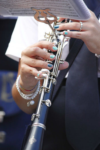 Solo for Clarinet Adult Adults Only Arts Culture And Entertainment Blue Clarinet Clarinetist Close-up Colored Nails Day Human Body Part Human Hand Jazz Music Men Music Musical Instrument Musician One Man Only One Person Only Men People Playing Skill  EyeEmNewHere