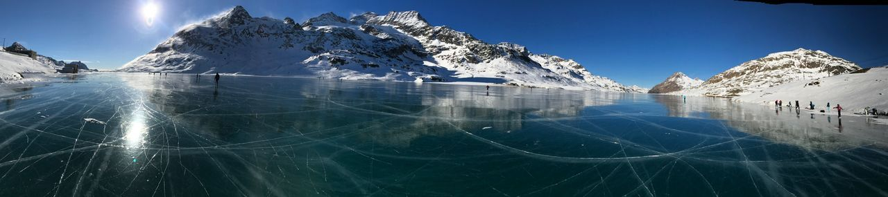 Frozen Lago Bianco Winter Snow Cold Temperature Nature Sky Day Beauty In Nature