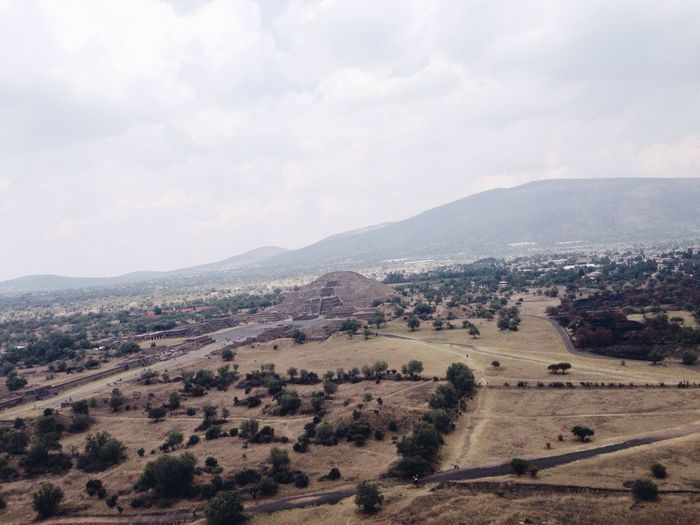 Archaelogical Archaeology Arid Climate Composition Crooked Geology Hill Landscape Mexico Mountain Nature Non-urban Scene Outdoors Piramide De La Luna Pyramid Pyramids Tajin Top Perspective Valley