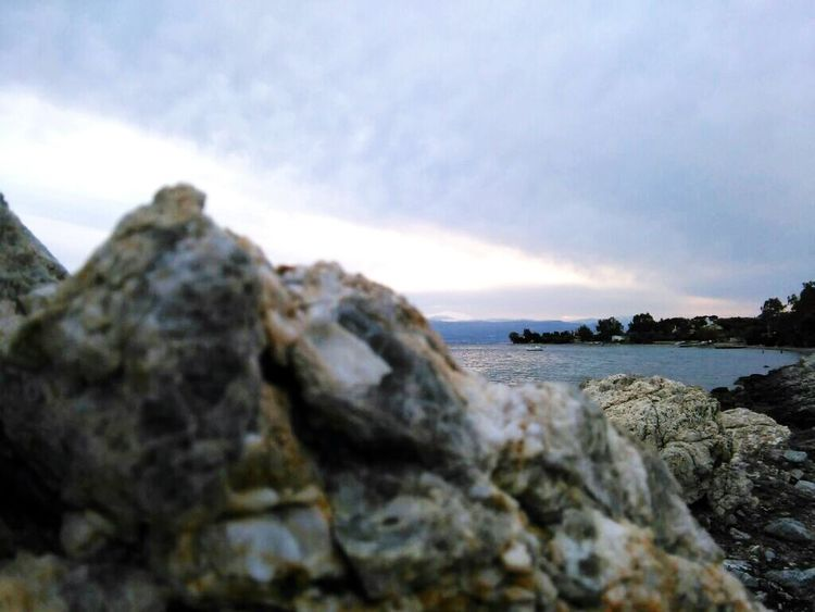 Focus Object Sea Cloud - Sky Beach Nature No People Day Sky Outdoors Mobile Photography Greece Vscocam Landscape_photography Water Nature Corinth Greece