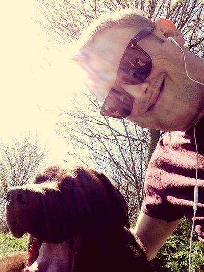 Dog walk selfie! IPhoneography Walking Around Labrador Springtime Warm