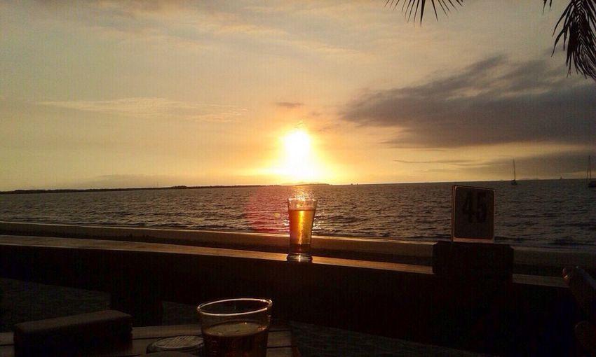 VitiNoquViti Beautiful sunset back home in Fiji Beach Life Beers Sunset