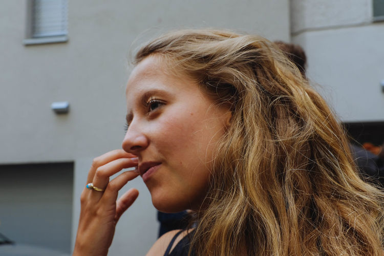 Close-Up Of Woman Looking Away