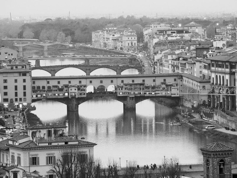 Ponte Vecchio Architecture River Bridge Blackandwhite Market Inside Firenze Sunset Beautiful