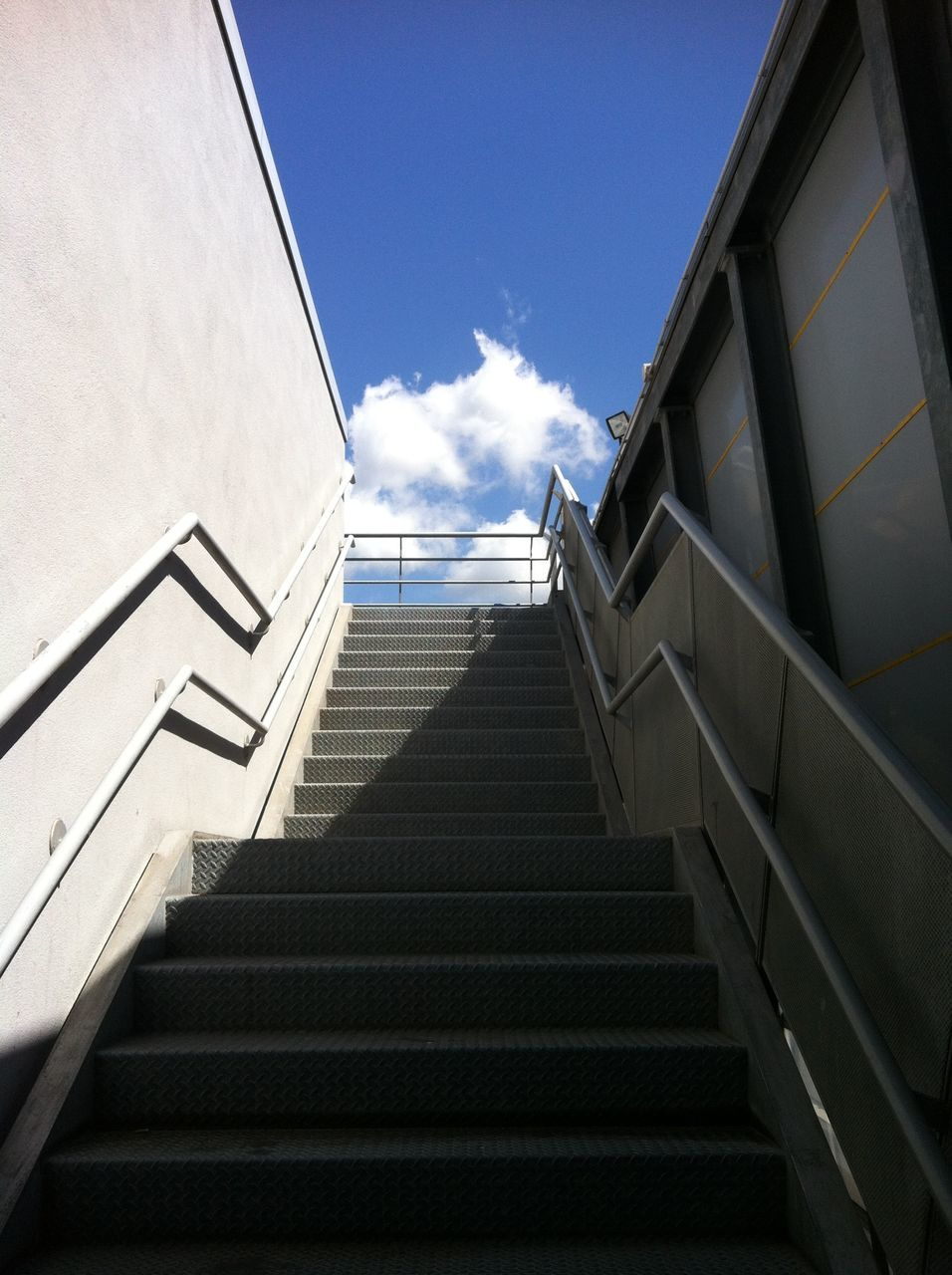Low Angle View Of Steps Against Sky