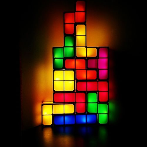 My really cool Tetris lights Tetris Tetrominoes Awesome Geek