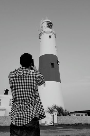 Seaside The Essence Of Summer Landscape The Great Outdoors - 2016 EyeEm Awards Coast Sky Buildings Taking Photos Lighthouse Black And White Ocean People Taking Photos