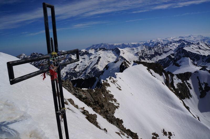 3 143 M 44° 07′ 22″ Nord 7° 23′ 02″ Est Cold Cold Temperature Le Gélas Le Gélas Et Son Balcon Mountain Park Mercantour Snow Snowcapped Mountain Sud De La France White Winter