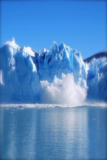 Scenic View Of Moreno Glacier Against Clear Sky