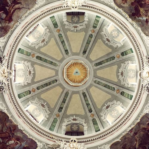 eye. Church Cupola Dome Ceiling Religion Directly Below Circle Architecture Built Structure Close-up Architectural Design Architecture And Art Architectural Detail