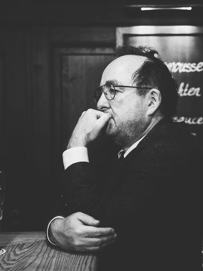 Bar stools philosophy // Berlin // Dec'16 Real People Eyeglasses  Beard One Person Drink Glasses Lifestyles Indoors  Men Day One Man Only People Berlin Bar Bar Stools Reflection Blackandwhite Candid Streetphotography Germany The Portraitist - 2017 EyeEm Awards