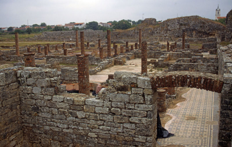 Jun 2001 - Conimbriga 1st Century Roman Ruins Brick Arch Stone Wall Brick Columns Mosaic Floor Expansive Conimbriga National Monument History Architecture Old Ruin Built Structure Ancient Day Outdoors Sky Travel Destinations No People Ancient Civilization Building Exterior