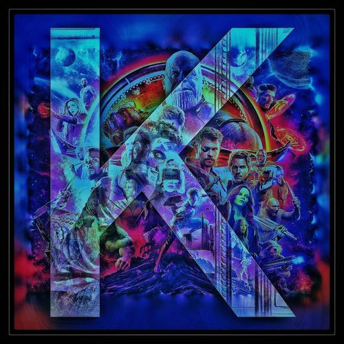Infinity War Avengers K Edited Blur Blue Framed Pixelated Close-up Sky Multi-layered Effect Double Exposure Multiple Exposure Galaxy Digital Composite