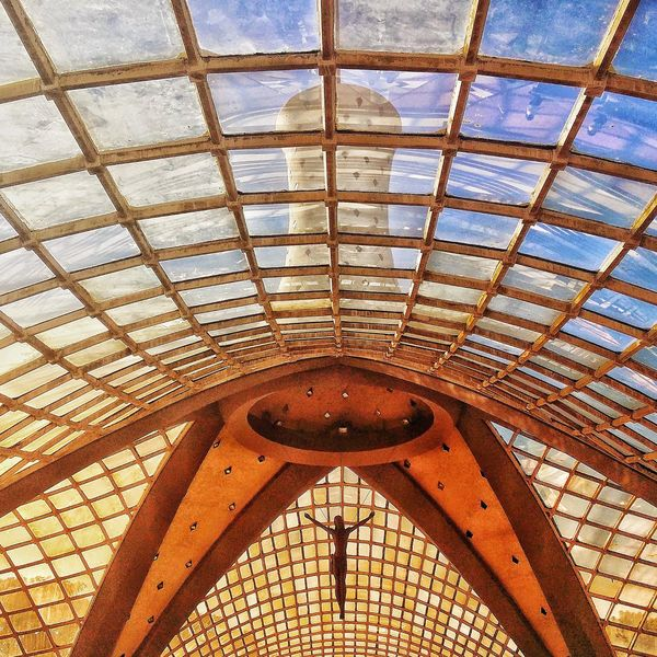 Ceiling Pattern Indoors  Low Angle View Day No People Full Frame Backgrounds Architecture Built Structure Close-up