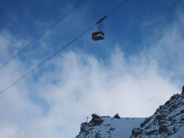 Vertigo Les Arcs Aiguille Rouge Alps French Alps Low Angle View Cable Sky Day Power Line  Outdoors Cloud - Sky Overhead Cable Car Power Supply No People Scenics Nature Ski Lift Ski Skiing Mountain Winter Sport Winter Ski Holiday