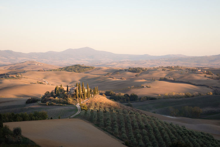 Podere Belvedere Tuscany Agriturismo Environment Idyllic Italy Landscape Nature No People Outdoors Sky Sunset Tranquility