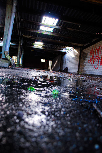 Surface level of abandoned building