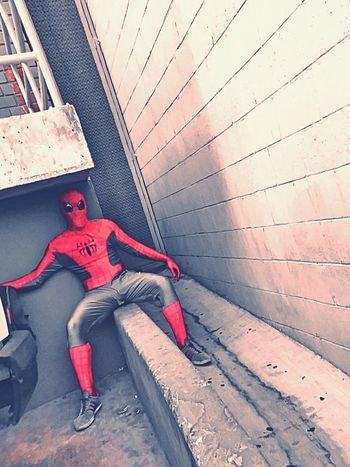 Alley Photography Spreadeagle Spread Eagle The Spiderman Comes Spiderman Spidey Spideyporn