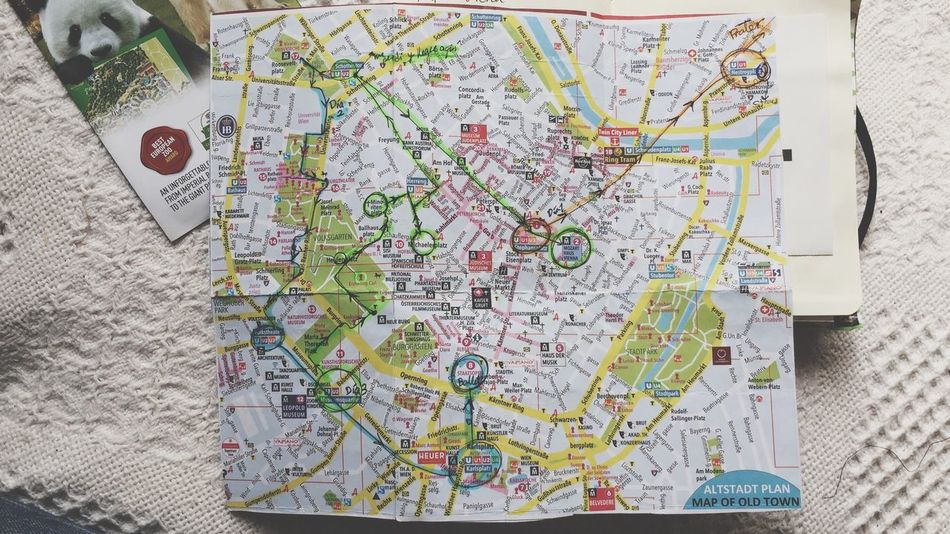 Map Direction Travel Close-up No People Day Indoors  Roadmap Citywide City One Day Tour