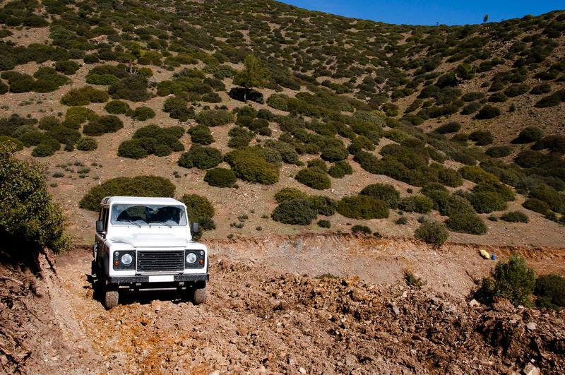 Off-Road Vehicle On Landscape