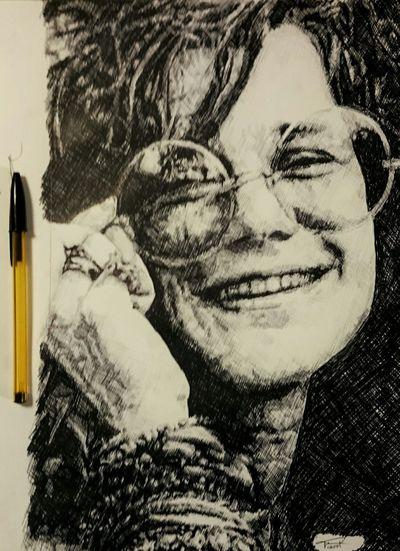 Myartwork Art, Drawing, Creativity My Art Art ArtWork My Artwork Drawing Portrait Janis Joplin
