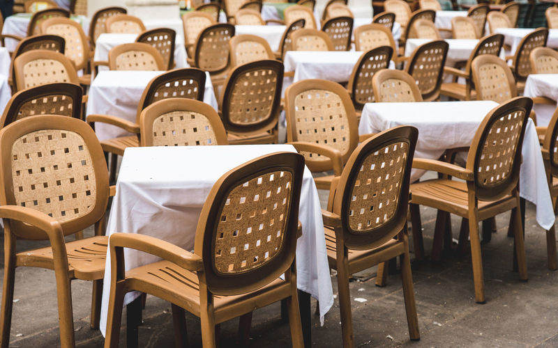 Chairs Arranged By Tables