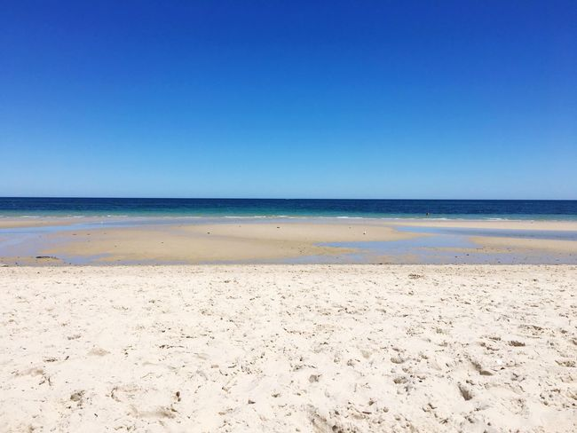 Beach Sand Sea Blue Nature Clear Sky Horizon Over Water Scenics Beauty In Nature Outdoors Sky