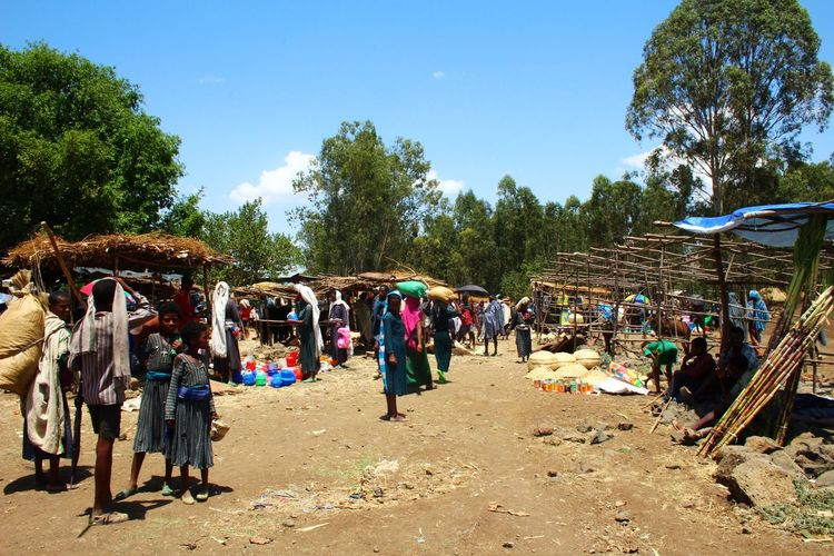 A stroll through a market on the way to the Blue Nile Falls, Ethiopia Chance Encounters Crowd Cultures Day Ethiopia Lifestyles Outdoors Real People Travel Travel Destinations Women